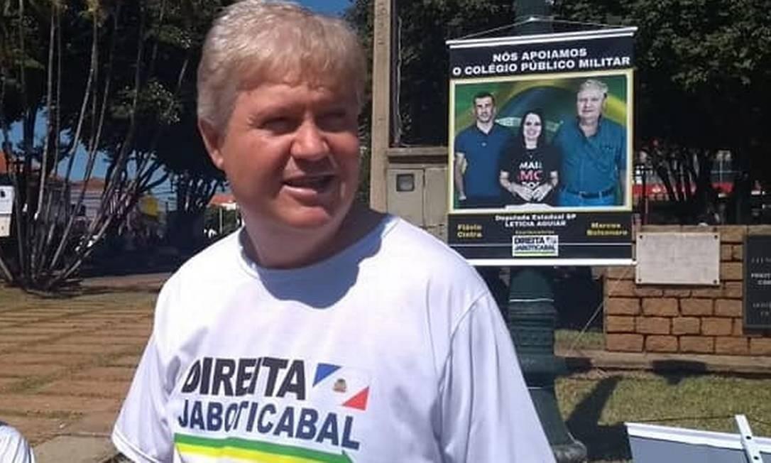Marcos Bolsonaro, primo de Jair Bolsonaro que concorreu a prefeito de Jaboticabal, em São Paulo Foto: Reprodução