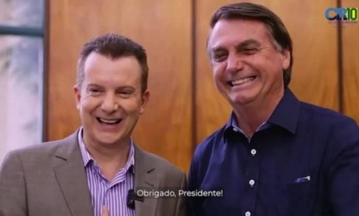 Celso Russomanno e o presidente Jair Bolsonaro Foto: Reprodução