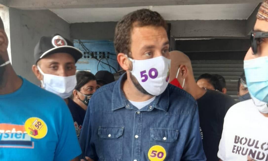 O candidato à Prefeitura de SP pelo PSOL, Guilherme Boulos Foto: Sérgio Roxo / Agência O Globo