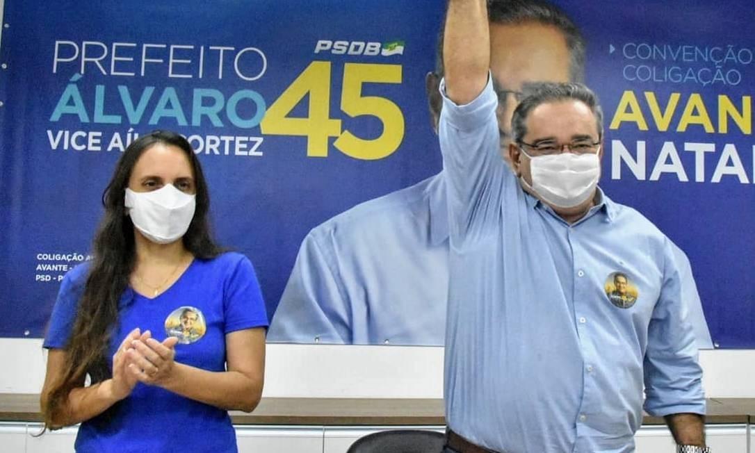 O prefeito Álvaro Dias foi reeleito na capital Natal após migrar do MDB para o PSDB Foto: Reprodução
