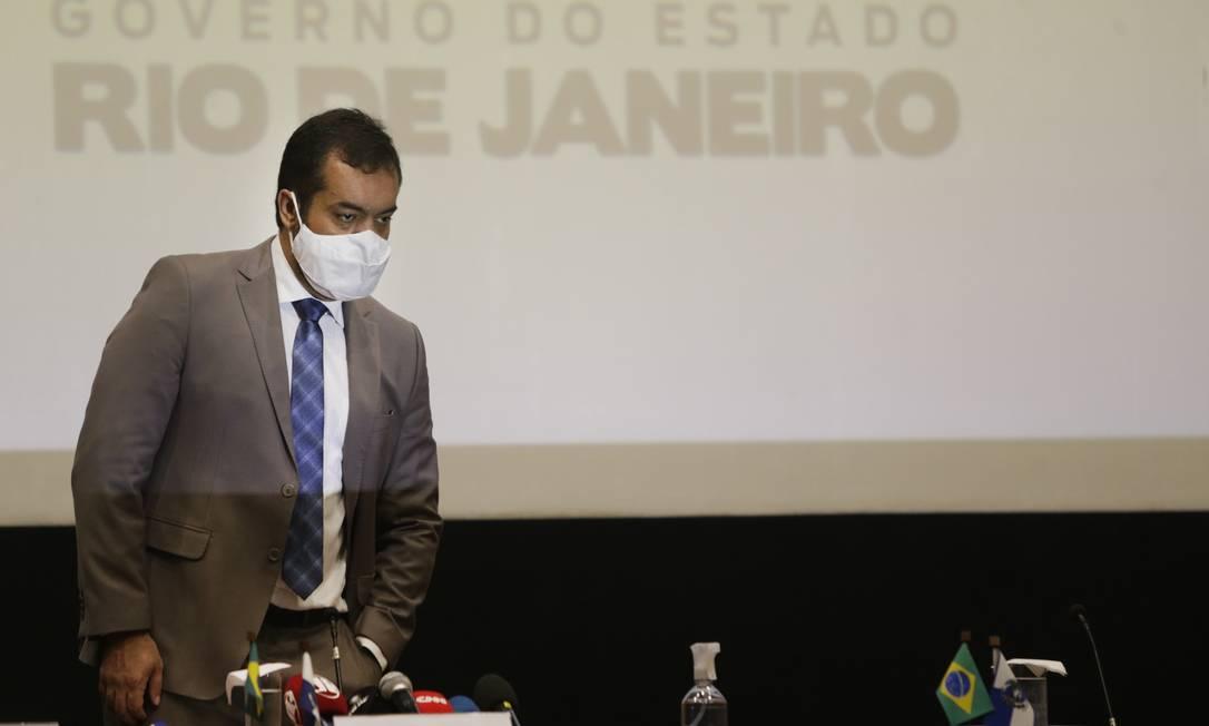 O governador em exercício Cláudio Castro Foto: Antonio Scorza/Agência O Globo/11-11-2020