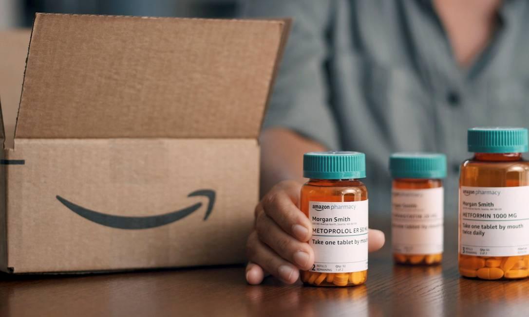 Os consumidores poderão pedir seus remédios diretamente pelo site da Amazon nos EUA Foto: AMAZON / via REUTERS