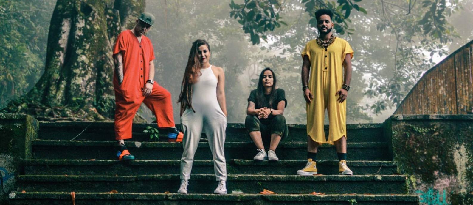 A banda Canto Cego, do Complexo da Maré, não conseguiu receber por lives na pandemia Foto: KAREN TRIBUZY / Divulgação