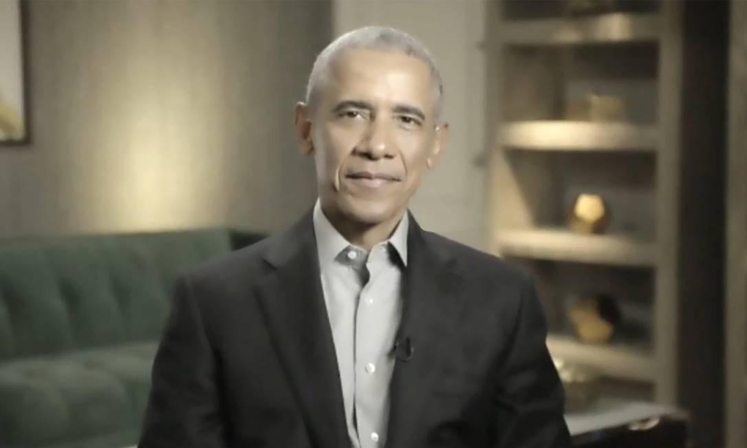 Ex-presidente dos EUA, Barack Obama, em entrevista ao GLOBO e à TV GLOBO Foto: Agência O Globo