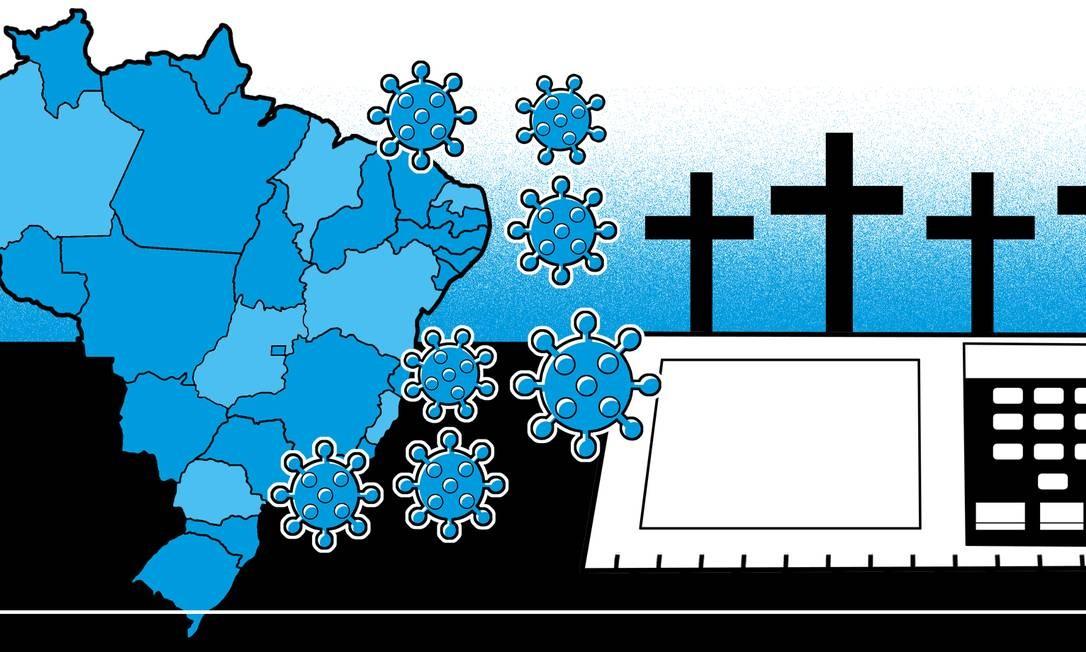 O Brasil já está na segunda onda da Covid-19? Foto: Ilustração Editoria de Arte