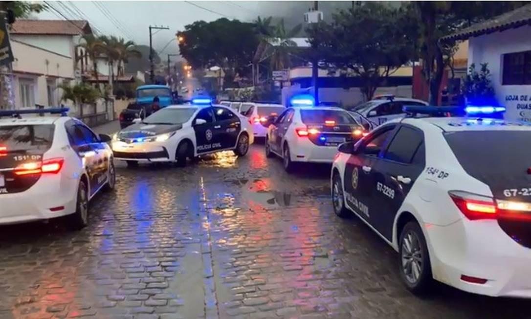 Polícia faz operação contra o tráfico em Duas Barras, cidade que não registra homicídios há mais de um ano Foto: Divulgação