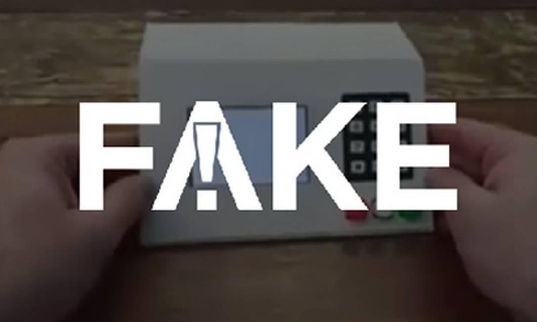 É #FAKE que vídeo prove que é possível fraudar urna eletrônica Foto: Reprodução
