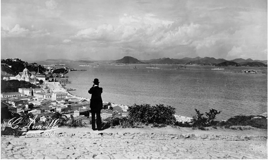 Alto de Santa Teresa. Charles Armeilla tinha como marca a mestria em regular a luz. Na foto, se vê perfeitamente as nuances do céu nublado Foto: C. Armeilla