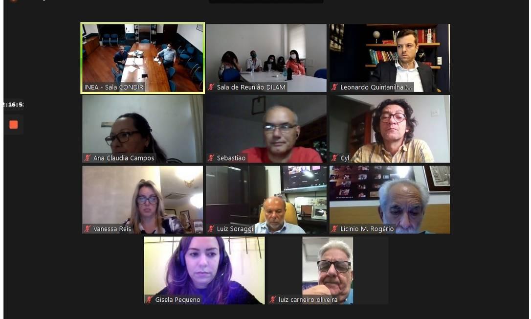 Sessão sobre licenciamento ambiental é realizada por videoconferência, com a participação de 14 conselheiros e mais de 150 espectadores Foto: Reprodução