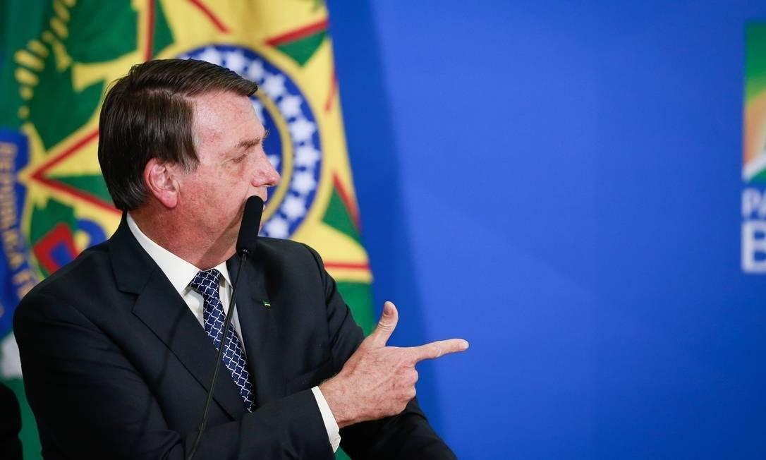 Presidente Jair Bolsonaro Foto: Pablo Jacob/Agência O Globo