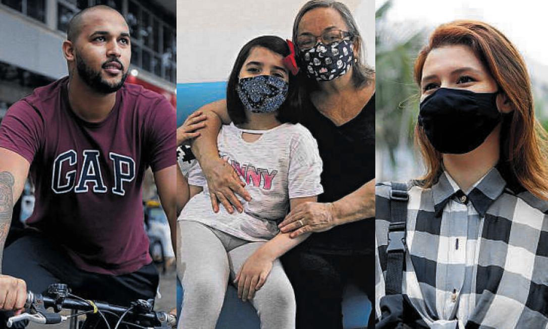 As três faces dos moradores do Rio na pandemia Foto: Luiza Moraes / Agência O GLOBO