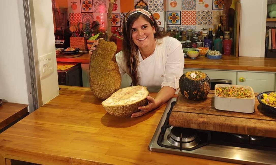 Receitas de jaca: na aula gravada pela chef Tati Lund, do restaurante .Org Foto: Divulgação
