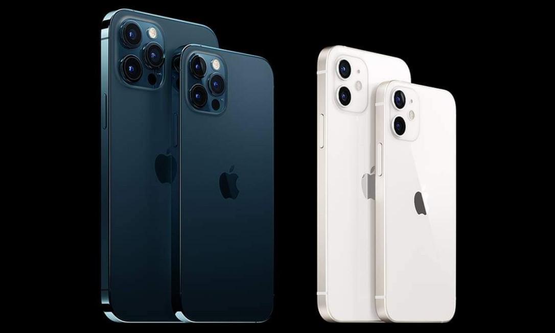 Versões do iPhone 12 ganharam novo design, conexão com rede 5G e novo processador A14 Bionic Foto: Reprodução/Shoptime