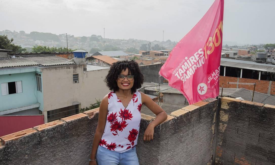 Tamires Sampaio, candidata a vereadora em São Paulo Foto: Edilson Dantas / Agência O Globo