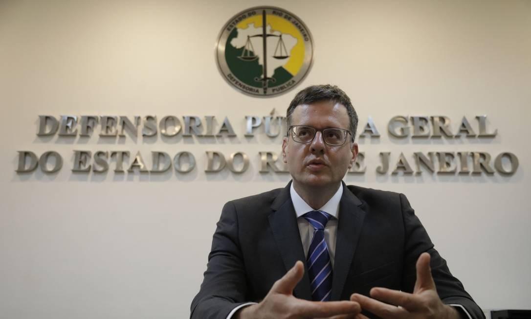 O defensor público-geral do Estado do Rio de Janeiro, Rodrigo Pacheco Foto: Custódio Coimbra / Agência O Globo