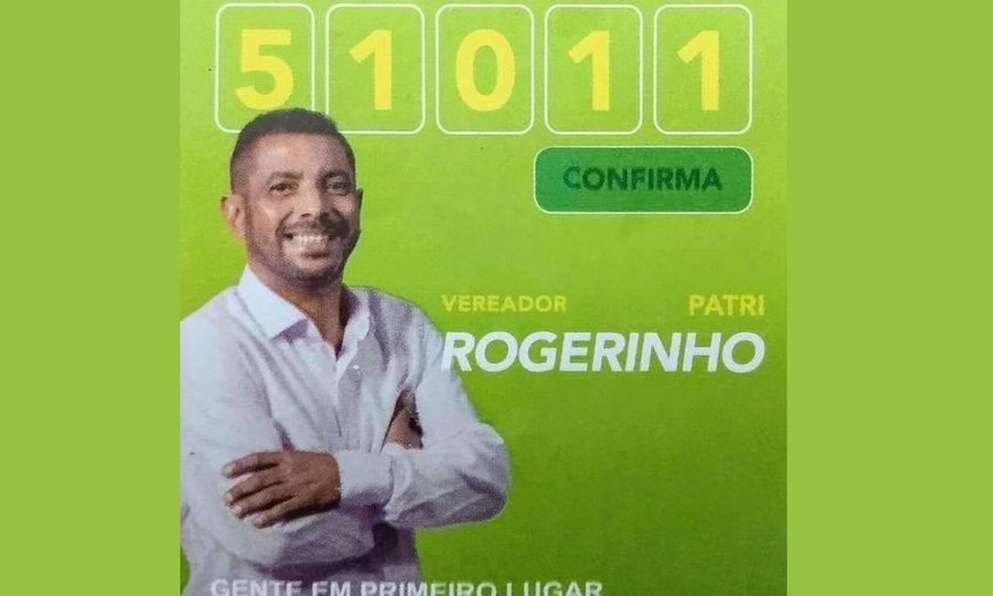 Ao ouvir da reportagem que estava entre aqueles com a maior proporção de recursos dividido por votos no Brasil, Rogério teve uma crise de riso Foto: Reprodução/ Redes sociais