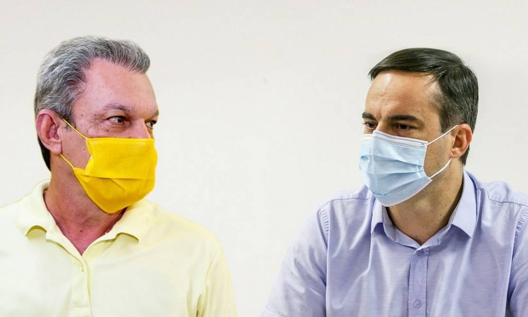 Os candidatos à Prefeitura de Fortaleza José Sarto (PDT) e Capitão Wagner (PROS) Foto: Divulgação