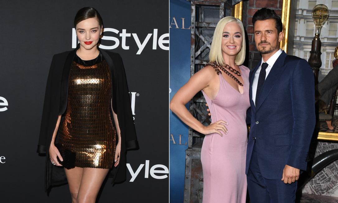 Miranda Kerr, Katy Perry e Orlando Bloom Foto: Getty