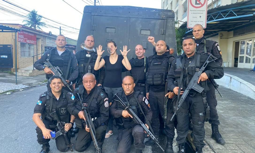 Equipes do 14 BPM e 41 BPM libertam mulher mantida em cárcere sob ameaças de um criminoso na Vila Vintém Foto: Reprodução de rede social