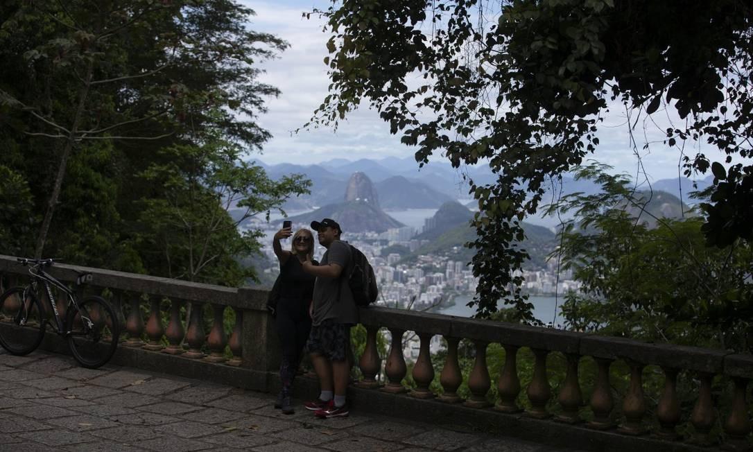O Parque Nacional da Tijuca reabre suas atrações. Na foto, a Mesa do Imperador Foto: Márcia Foletto