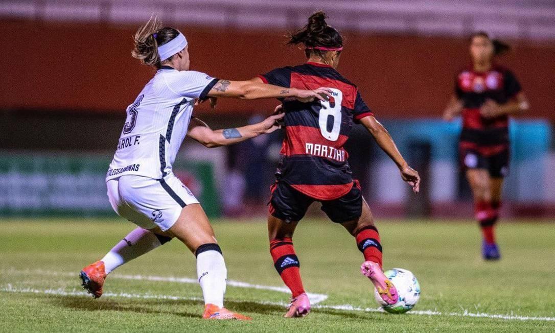 O Flamengo é derrotado pelo Corinthians por 3 a 1 na sexta rodada do Brasileiro Feminino Foto: Agência O Globo