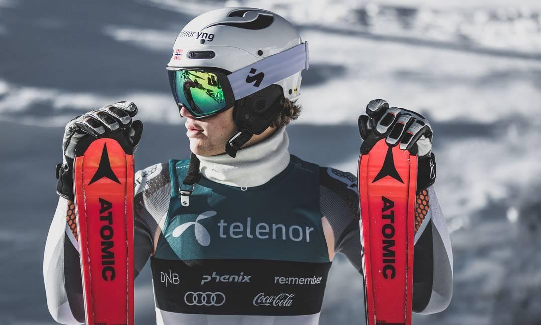 O esquiador Lucas Pinheiro Braathen, de 20 anos Foto: Divulgação