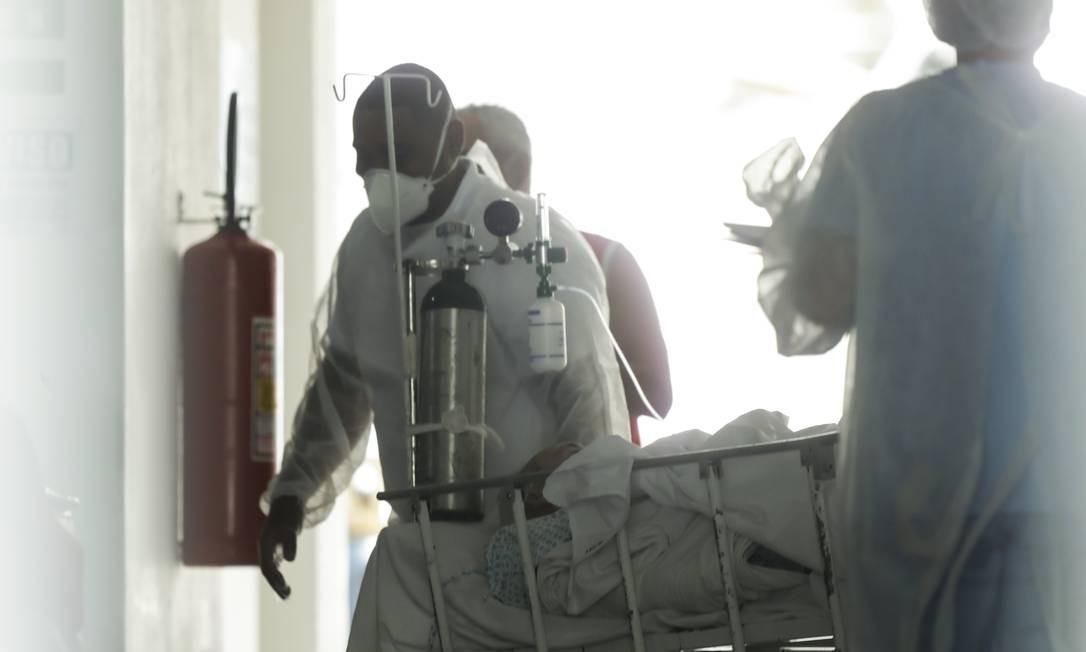 Hospital Geral do Ingá, no Rio, cancelou cirurgias eletivas devido ao aumento no número de pacientes com Covid-19 Foto: Gabriel de Paiva / Agência O Globo