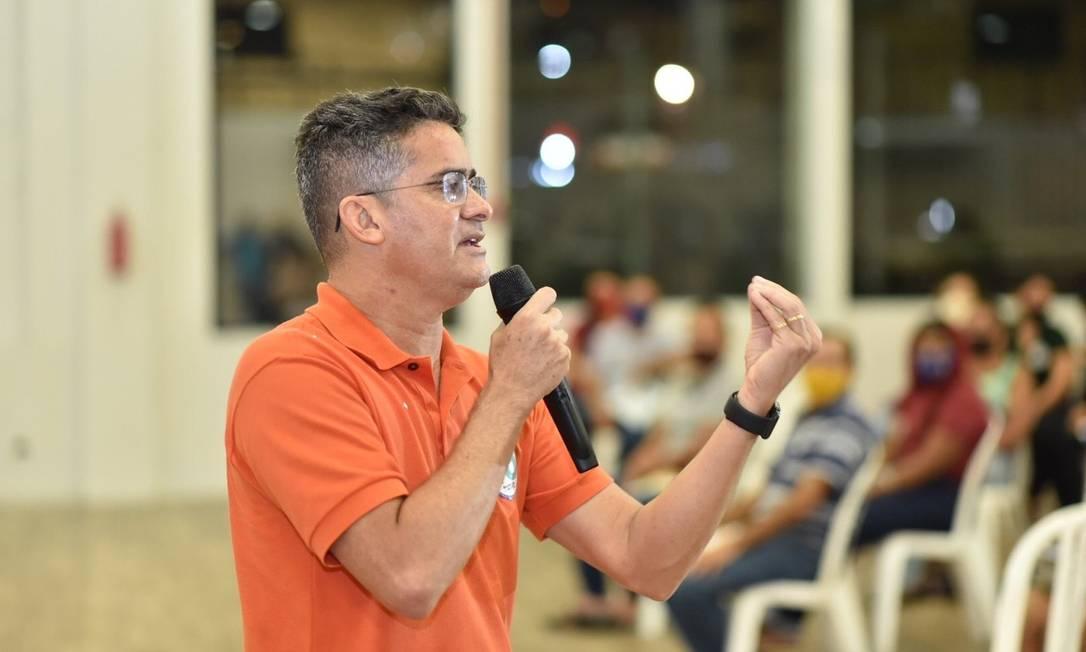 David Almeida durante ato de campanha; o candidato do Avante concorre à Prefeitura de Manaus Foto: Redes Sociais