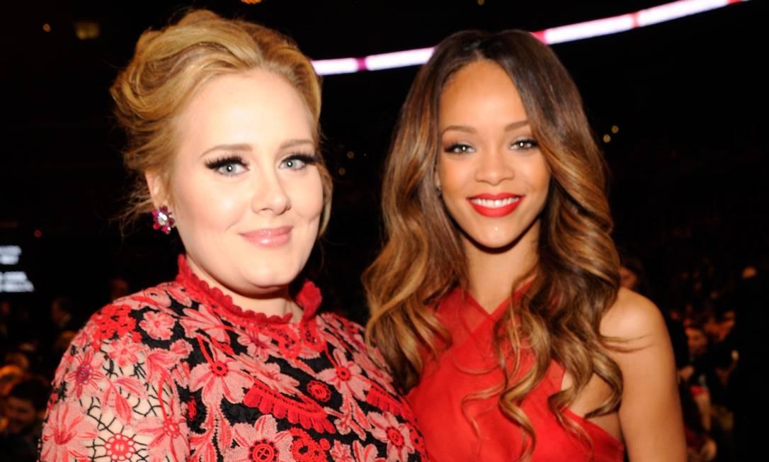 Adele e Rihanna Foto: Kevin Mazur / WireImage