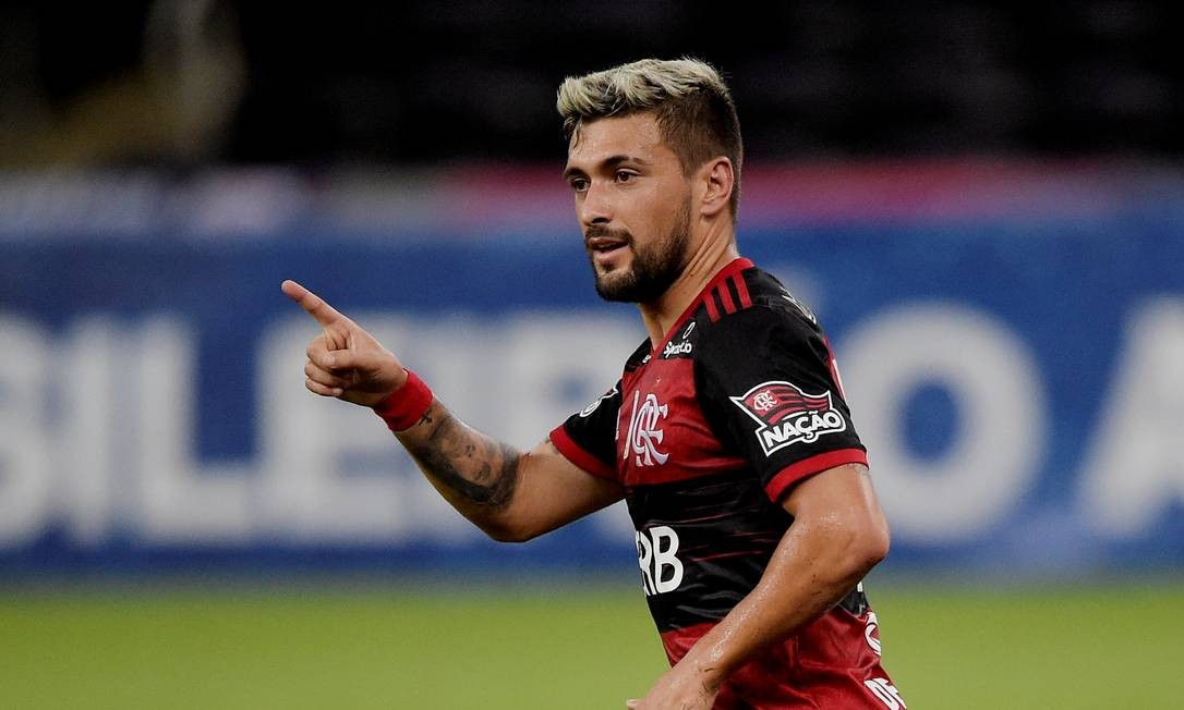 Arrascaeta é um dos destaques do Flamengo para a partida Foto: ALEXANDRE LOUREIRO / REUTERS