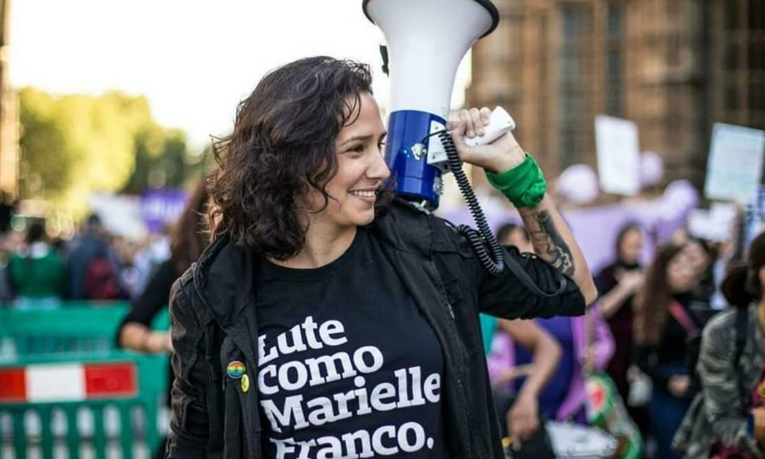 Monica Benicio, terceira candidata mais votada na capital fluminense Foto: Reprodução