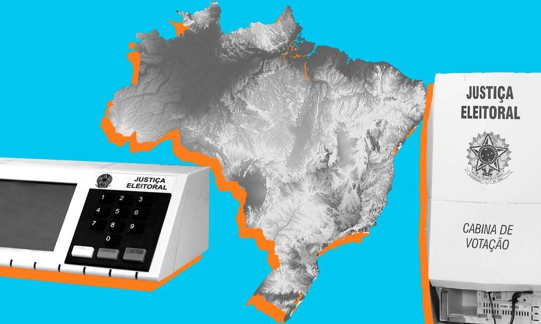 Saiba quais são as 18 capitais que terão 2º turno nas eleições 2020 Foto: Editoria de Arte
