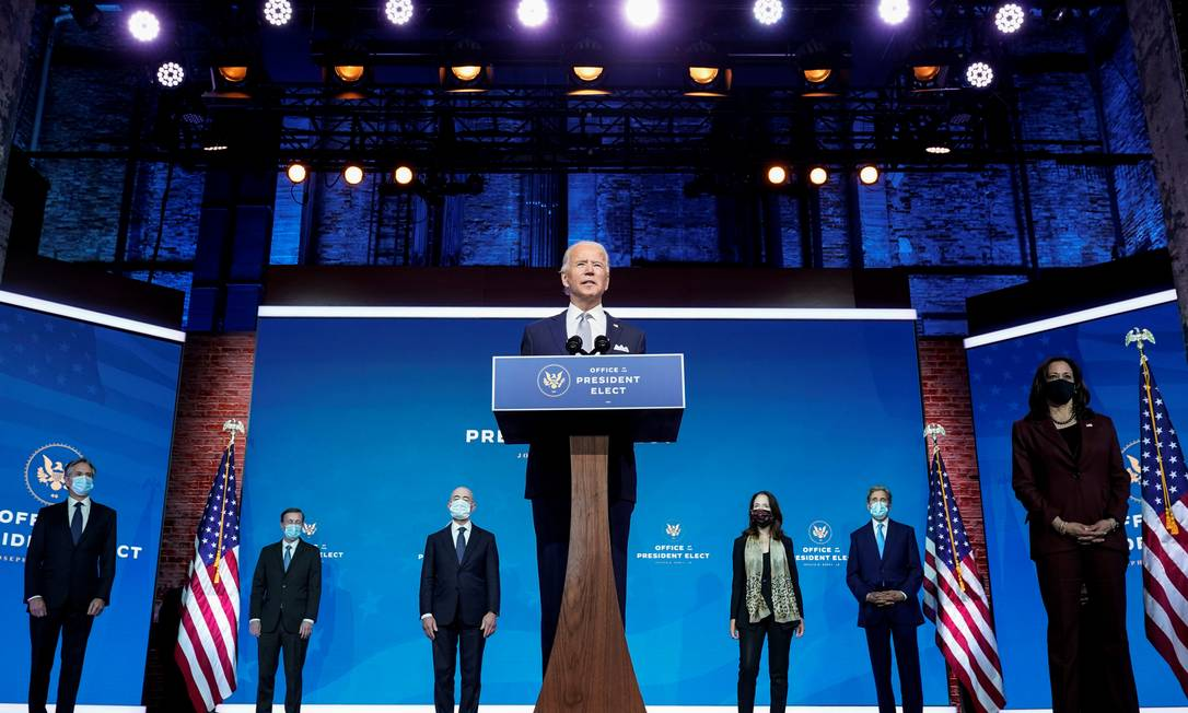 Joe Biden apresenta seus indicados para a equipe de segurança nacional do novo governo Foto: JOSHUA ROBERTS / REUTERS