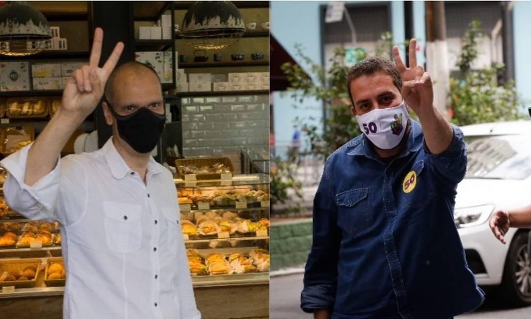 Bruno Covas (PSDB) e Guilherme Boulos (PSOL) disputam a Prefeitura de São Paulo Foto: Arquivo O GLOBO