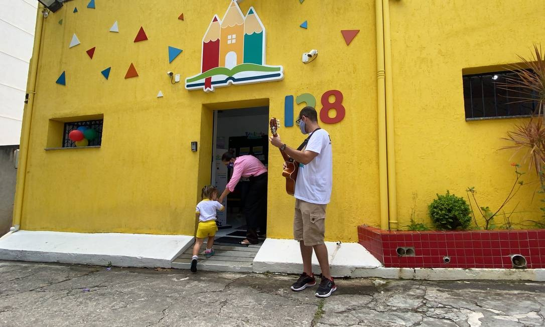 Alunos da educação infantil retornam às aulas na Creche Escola Tathilândia, em Icaraí Foto: Divulgação