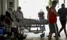 Hospital Geral do Ingá cancelou as cirurgias eletivas por causa do aumento do número de casos de Covid Foto: Gabriel de Paiva / Agência O Globo