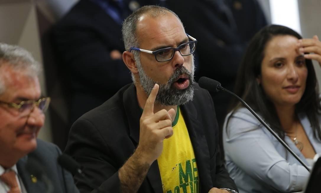 Blogueiro bolsonarista Allan dos Santos, do Terça Livre Foto: Jorge William/Agência O Globo