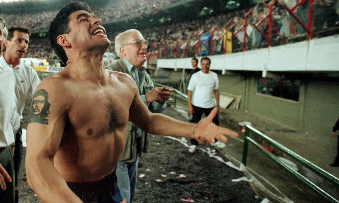 Diego Maradona sofreu parada cardiorrespiratória e faleceu as 60 anos Foto: Enrique Marcarian / REUTERS
