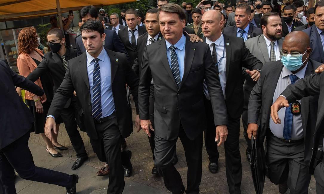 O presidente Jair bolsonaro, em São Paulo 25/11/2020 Foto: NELSON ALMEIDA / AFP