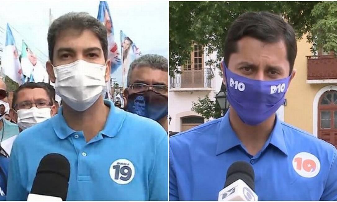 Os candidatos à Prefeitura de São Luis Eduardo Braide (Podemos) e Duarte Júnior (Republicanos) Foto: Reprodução