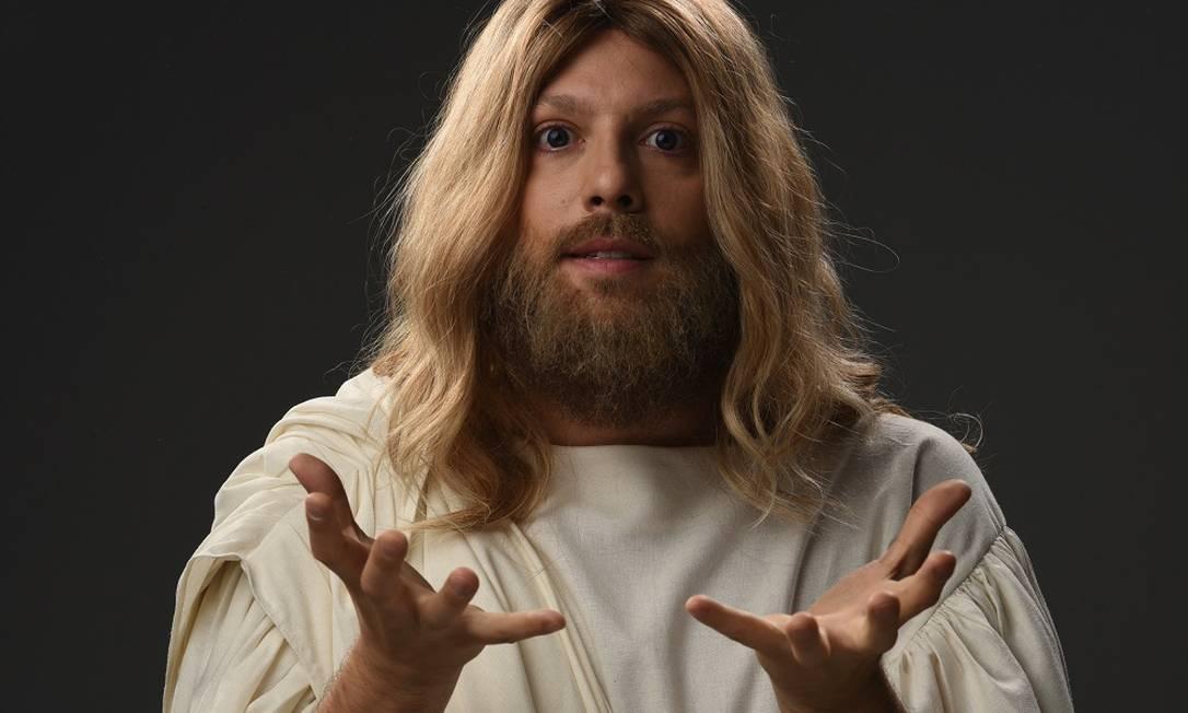 Fabio Porchat como Jesus Cristo no novo especial de Natal do Porta dos Fundos, 'Teocracia em vertigem' Foto: Divulgação/Daniel Chiacos