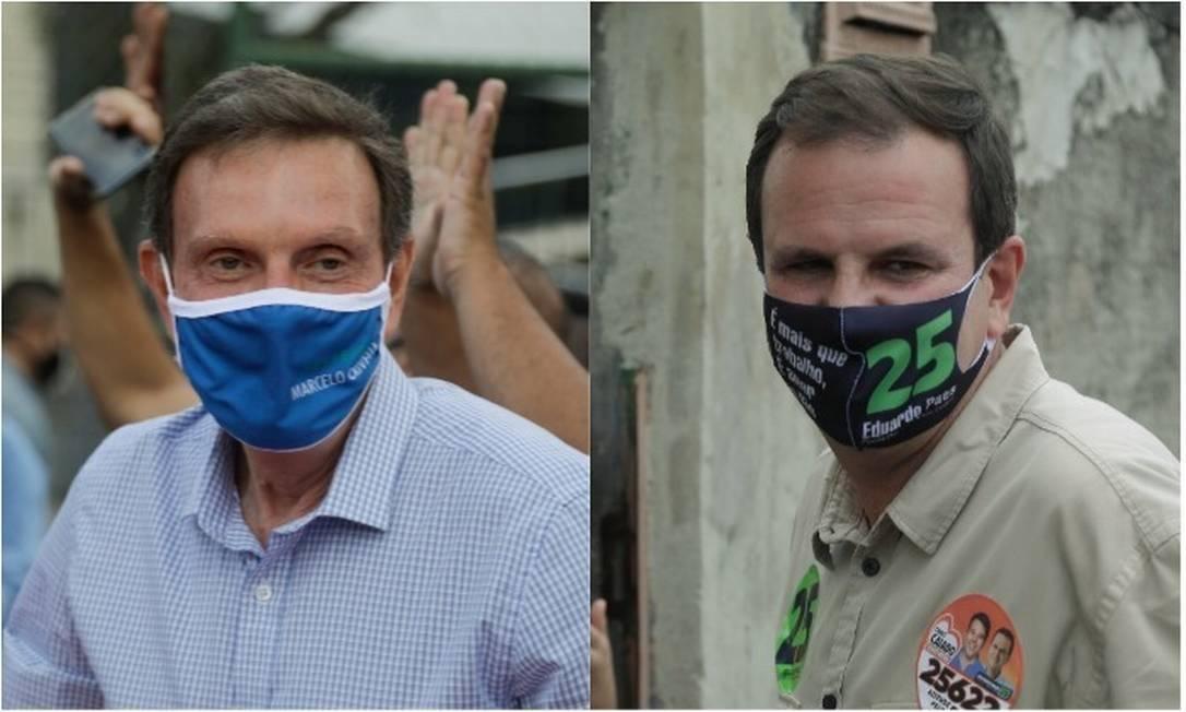 O prefeito Marcelo Crivella e o ex-prefeito Eduardo Paes Foto: Agência O Globo