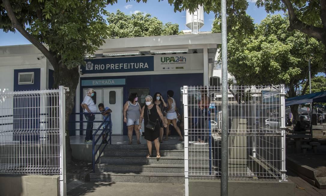 UPA de Madureira, na Zona Norte, é uma das cinco consideradas inaptas nesta quinta-feira pela própria Secretaria municipal de Saúde para receber novos pacientes Foto: Guito Moreto / Agência O Globo