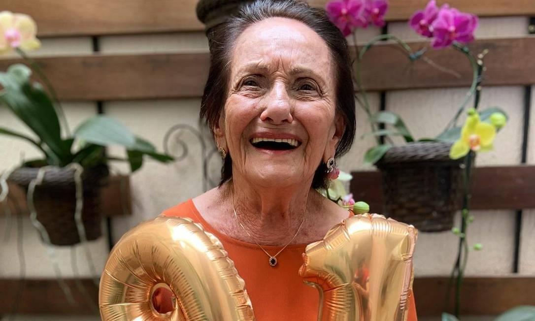 """Aos 91 anos, Amália Theresa da Silva, conhecida como """"Vó da Pomba"""", atrai milhões de seguidores em redes sociais Foto: Arquivo pessoal"""