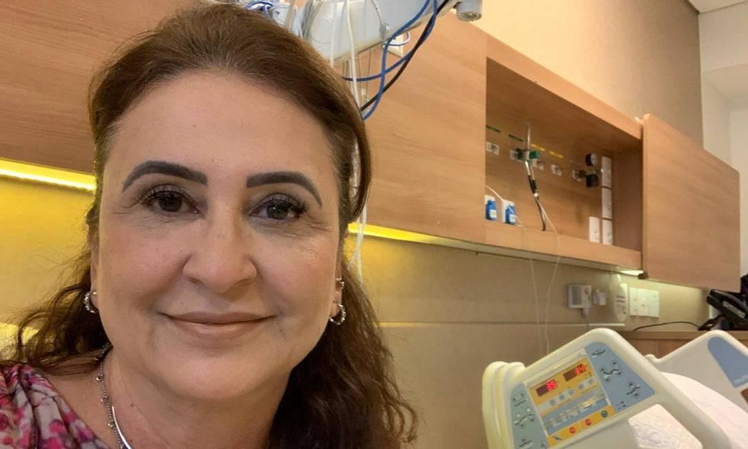 A senadora Kátia Abreu, após receber alta hospitalar Foto: Divulgação
