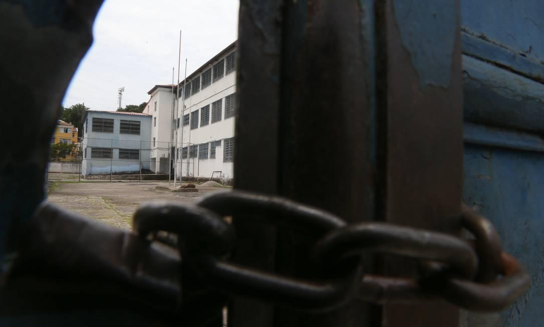 Escola muncipal do Rio, no bairro do Engenho de Dentro, Zona Norte do Rio, vazia no último dia 17 Foto: Pedro Teixeira / Agência O Globo