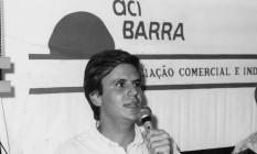 Eduardo Paes qna época em que foi Sub-Prefeito da Barra da Tijuca, em 1993. Foto: Foto: Marcos Andre Pinto/Agência O Globo