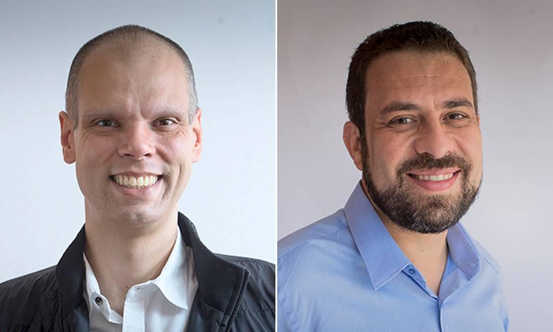Os candidatos a prefeito de São Paulo Bruno Covas (PSDB) e Guilherme Boulos (PSOL) Foto: Arquivo O GLOBO