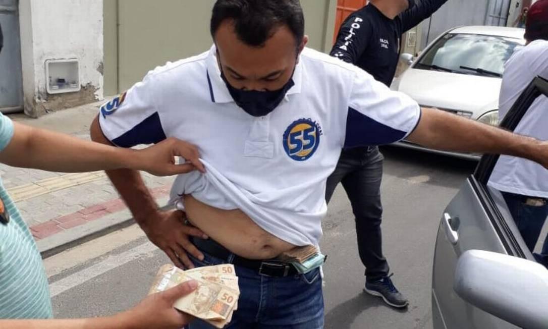 Irmão do prefeito flagrado com dinheiro na cueca na véspera do segundo turno Foto: Reprodução/Polícia Federal