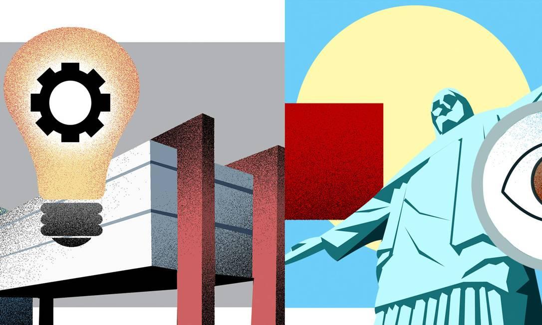 Especialistas indicam 40 desafios para os futuros prefeitos de Rio e São Paulo Foto: Editoria de Arte
